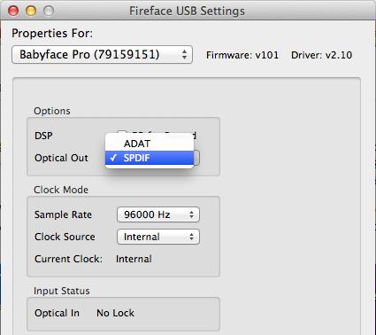 Babyface_Pro_Fireface_USB_Settings