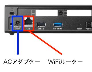 ACアダプター/WiFiルーターへの接続